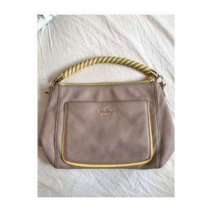 Kate Spade blush and yellow leather purse